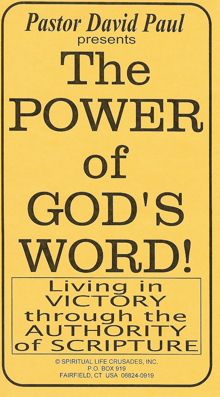 "S143 ""THE POWER OF GOD'S WORD!"""